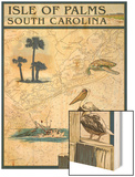 Isle of Palms, South Carolina - Nautical Chart Prints by  Lantern Press