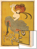 Poster for Le Frou-Frou Humorous Magazine Wood Print by Cappiello Leonetto