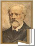 Pyotr Ilich Tchaikovsky, Russian Composer Wood Print by Ik Skelton