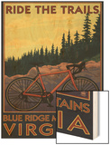Blue Ridge Mountains, Virginia - Ride the Trails Wood Print by  Lantern Press