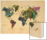 World Watercolor Map 3 Posters