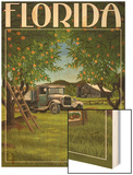 Florida - Orange Grove with Truck Posters by  Lantern Press