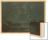Star-Filled Sky Featuring the Constellation of Orion Wood Print by W. Kranz