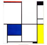Tableau I, 1921 Plakater av Piet Mondrian