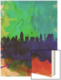 San Antonio Watercolor Skyline Wood Print by  NaxArt