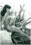 Bettie Page Beach Bettie Pin-Up Photo