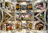 Michelangelo Creation Sistine Chapel Art Poster Adam Posters