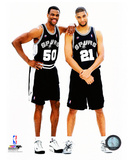 David Robinson & Tim Duncan 2001 Posed Photo
