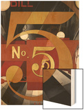 I Saw the Figure 5 in Gold Wood Print by Charles Demuth