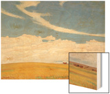 Prairie after Storm, 1921 Wood Print by Maynard Dixon