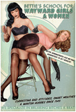 Bettie Page School For Wayward Girls Prints