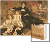 Madame Charpentier and Her Children Wood Sign by Renoir Pierre-Auguste