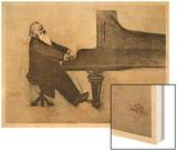 Johannes Brahms German Musician Wood Print