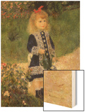 A Girl with a Watering Can, 1876 Wood Sign by Renoir Pierre-Auguste