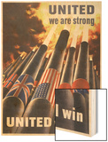 United We are Strong, United We Can Win Wood Print by Henry Koerner