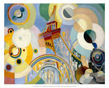 Air, Iron, and Water, 1937 Poster af Robert Delaunay