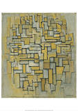Composition in Brown and Gray (Gemälde no. II : Composition no. IX : Compositie 5), 1913 Planscher av Piet Mondrian