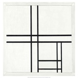 Composition in Black and White, with Double lines, 1934 Plakater av Piet Mondrian
