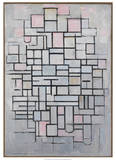 Composition No.6., 1914 Prints by Piet Mondrian