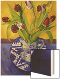 Tulips-Series I Wood Print by Isy Ochoa