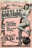 Bettie Page House Of Burlesque Plakater