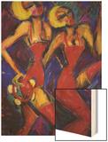 Tambourine Twins Poster by Gina Bernardini