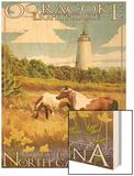 Ocracoke Lighthouse - Outer Banks, North Carolina Wood Print by  Lantern Press