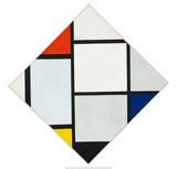 Composition II in Red, Blue, and Yellow, 1930 Plakat av Piet Mondrian