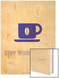 Coffee Poster Blue Print