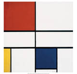 Composition C (no.III), with Red, Yellow and Blue, 1935 Posters av Piet Mondrian