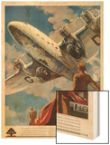 "An Armstrong Whitworth ""Ensign"" of Imperial Airways Takes Off Wood Print"