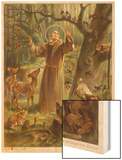 Saint Francis of Assisi, Preaching to the Animals Wood Print by Hans Stubenrauch