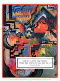 Colored Composition - Hommage to Johann Sebastian Bach, 1912 Prints by Auguste Macke