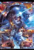 Star Wars Saga Collage Movie Poster Kunstdrucke