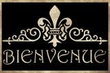 BIENVENUE - Welcome vintage 2 Wall Sign