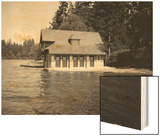 Thornewood Castle Boathouse, Lakewood, WA, 1916 Wood Print by Ashael Curtis