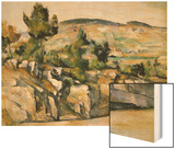 Mountains in Provence Wood Sign by Cézanne Paul