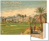 Palm Springs, California - Golf Course Scene Wood Print by  Lantern Press