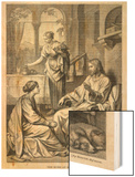 Jesus Talks with Mary While Martha Does Housework Wood Print by Heinrich Hofmann