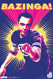 Big Bang Theory Sheldon Bazinga Television Poster Billeder