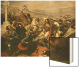 Battle of Tours (Also Called the Battle of Poitiers), France, 25 October 732 Wood Print by Charles Auguste Steuben