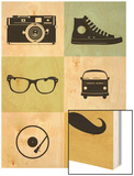 Hipster Mix Poster Wood Print by  NaxArt