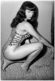 Bettie Page Vixen Pin-Up - Reprodüksiyon