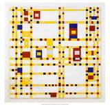 Broadway Boogie Woogie. 1942-43 Affiches par Piet Mondrian