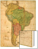 South America - Panoramic Map Prints by  Lantern Press