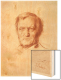 Wilhelm Richard Wagner German Composer Wood Print by Franz Von Lembach