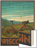Mountain Bike Scene - Wisconsin Wood Print by  Lantern Press