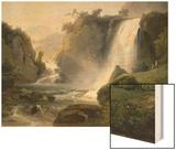 Cascade de Tivoli Wood Print by Jean Charles Joseph Remond