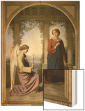 The Annunciation Wood Print by Eugene Emmanuel Amaury-Duval