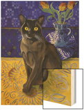 Burmese Cat, Series I Wood Print by Isy Ochoa